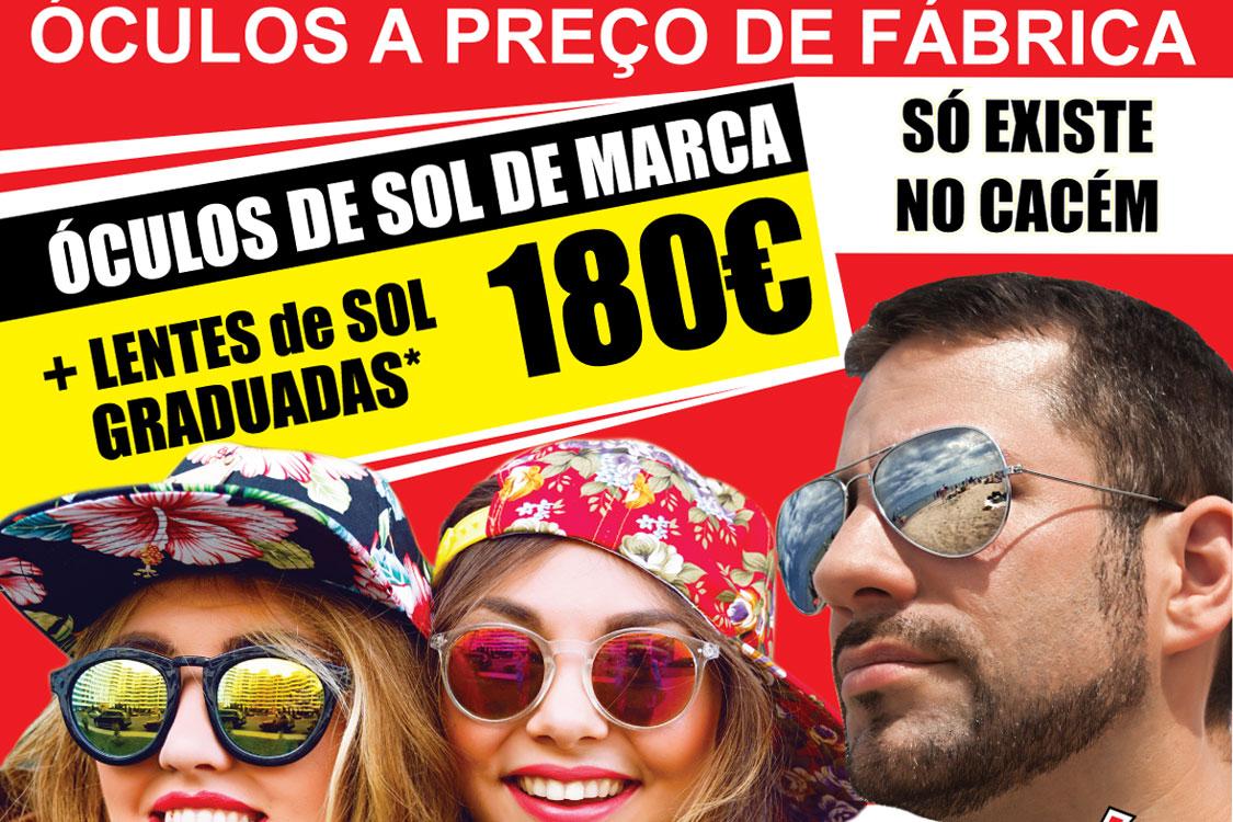 17f639846b Encontre óculos de sol de grandes marcas… a preços de fábrica ...